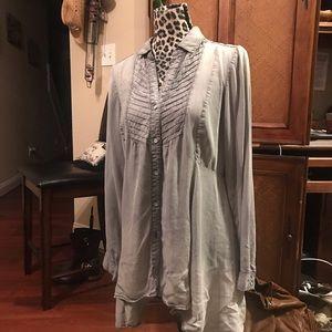Vintage America Blues Gray Double Cloth Plaid HiLo